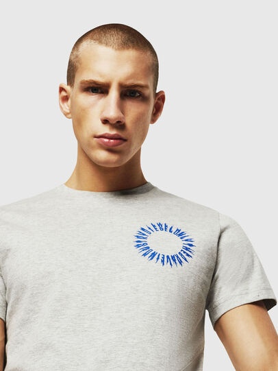 Diesel - T-DIEGO-A12, Light Grey - T-Shirts - Image 4