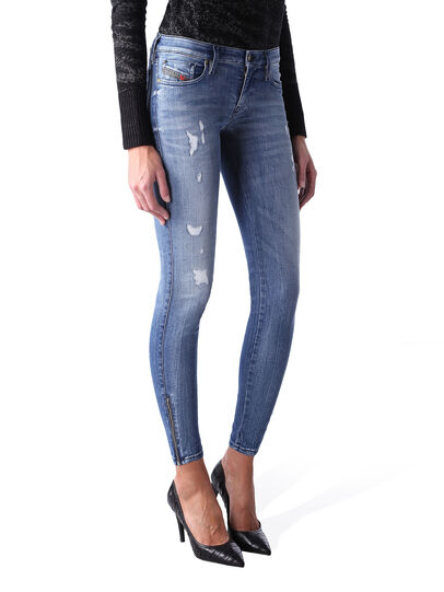 Diesel - Skinzee Low Zip 0847U,  - Jeans - Image 2