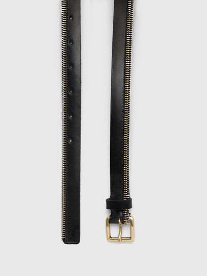 Diesel - B-ZIPPER, Black - Belts - Image 3