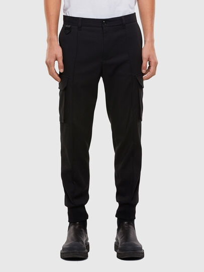 Diesel - P-SONG, Black - Pants - Image 1