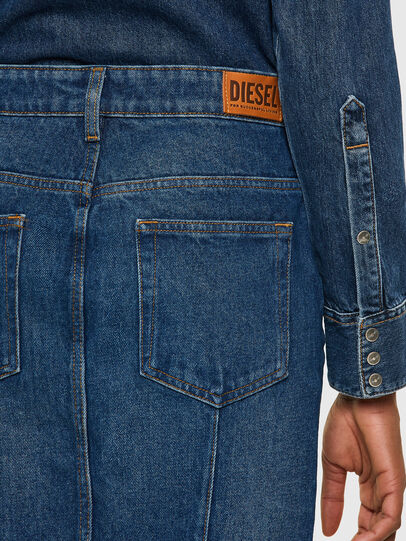 Diesel - DE-PENCIL-ZIP, Medium blue - Skirts - Image 4