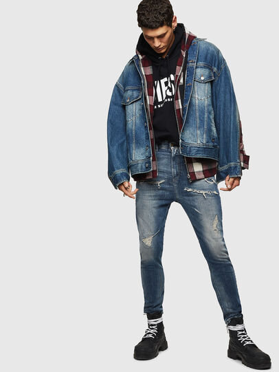 Diesel - D-LORY, Medium blue - Denim Jackets - Image 7
