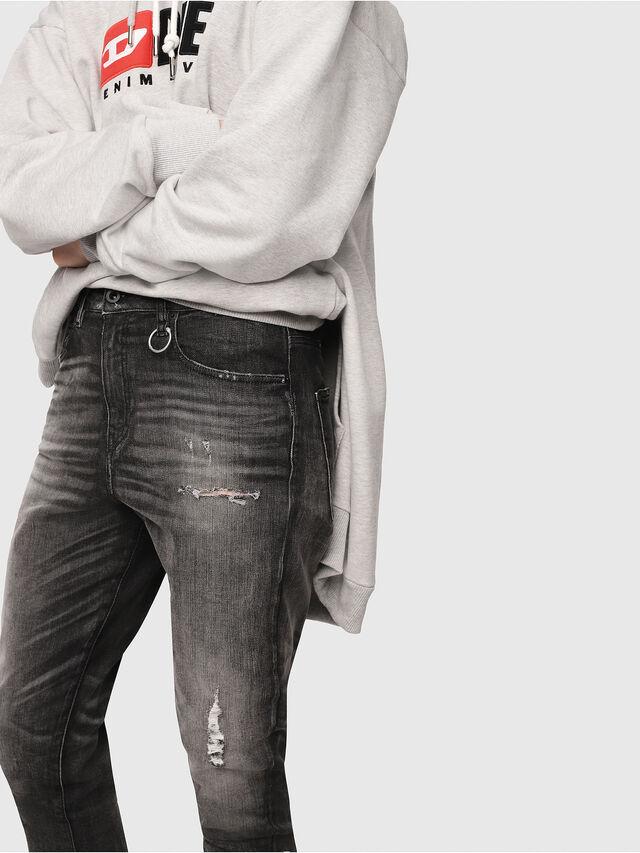 Diesel - Candys JoggJeans 0077S, Black/Dark grey - Jeans - Image 4