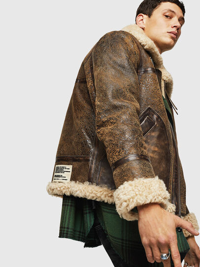 Diesel - L-BALASOVI, Brown - Leather jackets - Image 5
