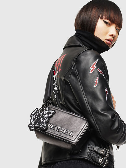 Diesel - ROSA' CNY, Silver - Crossbody Bags - Image 8