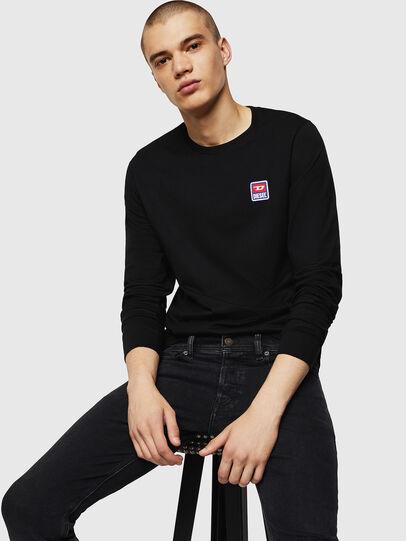 Diesel - T-DIEGO-DIV-LS, Black - T-Shirts - Image 7