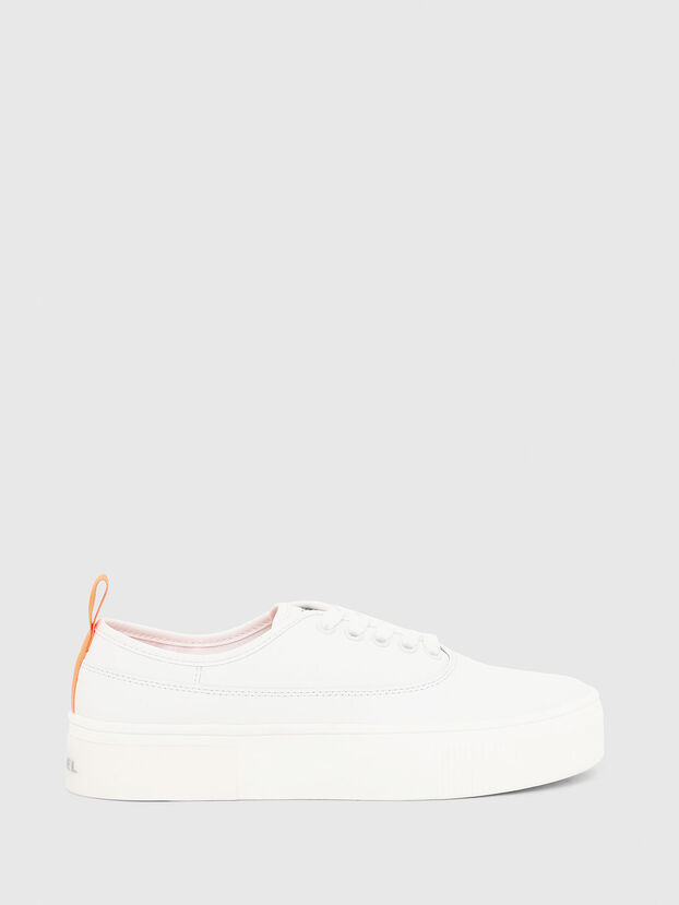 S-VANEELA LOW, White/Orange - Sneakers