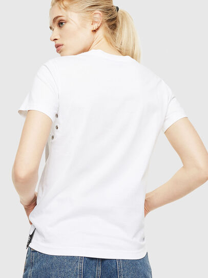 Diesel - T-SILY-WP, White - T-Shirts - Image 2