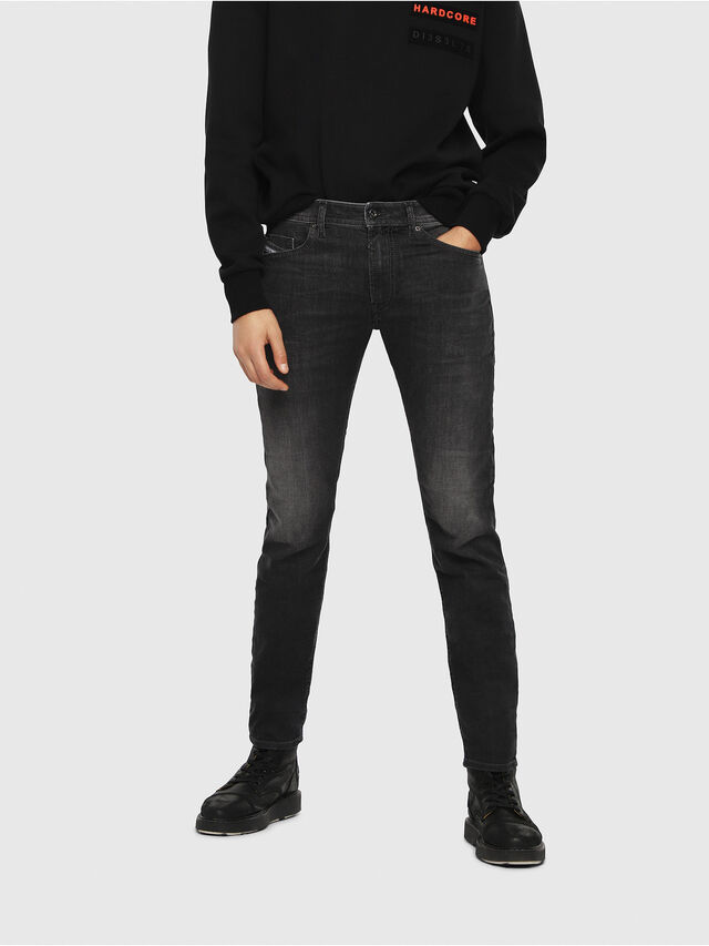 Diesel - Thommer 0687J, Black/Dark grey - Jeans - Image 1
