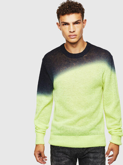 Diesel - K-TREAT, Yellow Fluo - Knitwear - Image 1
