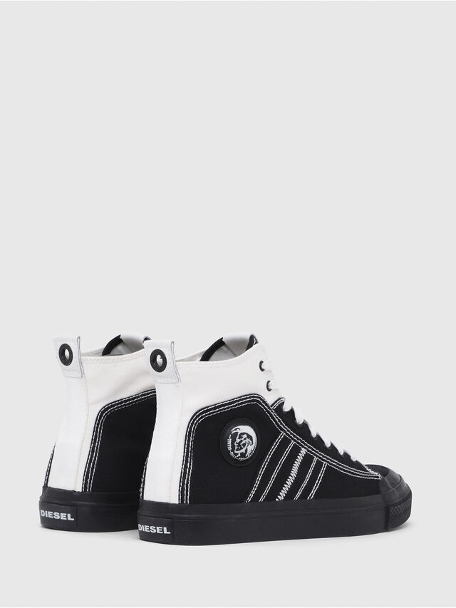 Diesel - S-ASTICO MID LACE, Black/White - Sneakers - Image 3