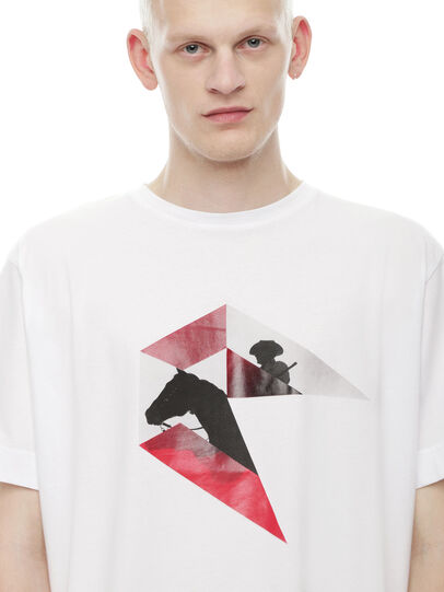 Diesel - TEORIAL-HUNTING, White - T-Shirts - Image 3