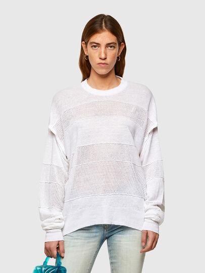 Diesel - M-AMETHYST, White - Knitwear - Image 1