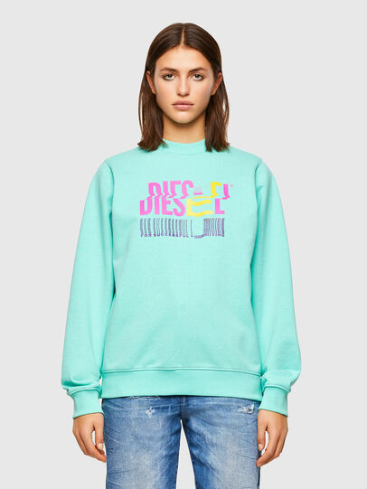 Diesel - F-ANG-K14, Light Blue - Sweaters - Image 1