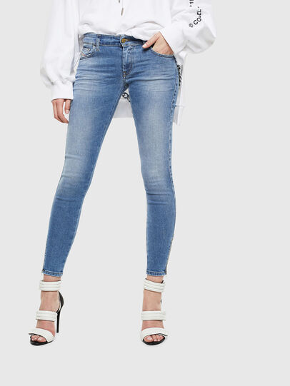 Diesel - Slandy Low 0095B, Light Blue - Jeans - Image 1