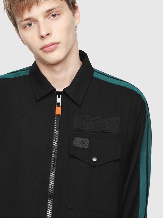 Diesel - J-KIRO, Black/Green - Jackets - Image 3