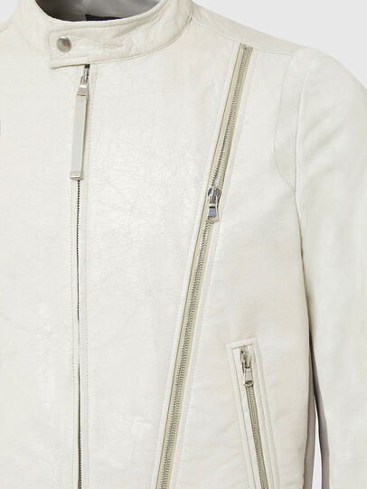Diesel - L-CROME, White - Leather jackets - Image 5