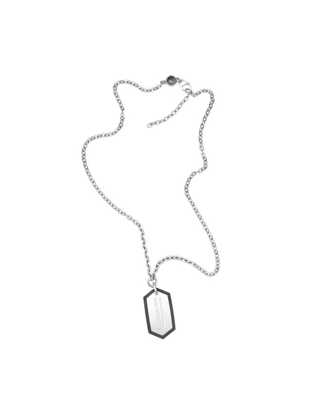 Diesel - NECKLACE DX0996, Silver - Necklaces - Image 1