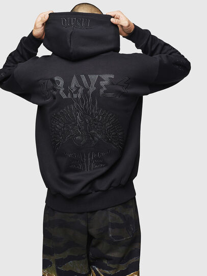 Diesel - S-ALBY-B5, Black - Sweaters - Image 2