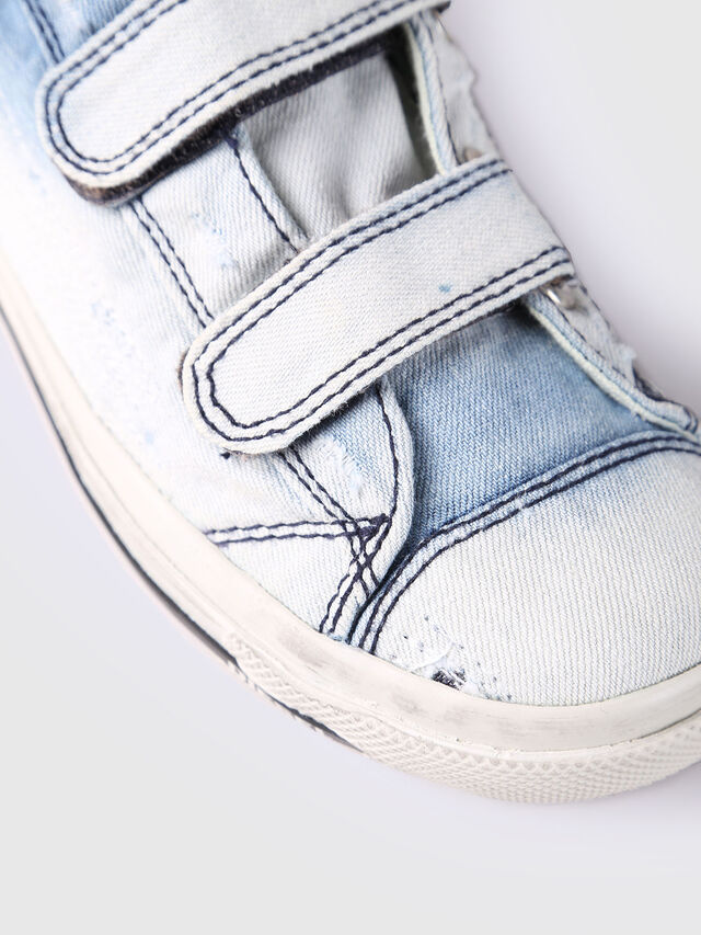 KIDS SN LOW STRAP 11 DENI, Light Blue - Footwear - Image 4