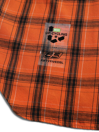 Diesel - D-ANORACHECK, Orange - Shirts - Image 4
