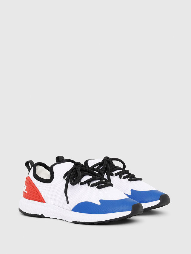 Diesel - SN LOW 10 S-K YO, White/Red/Blu - Footwear - Image 2