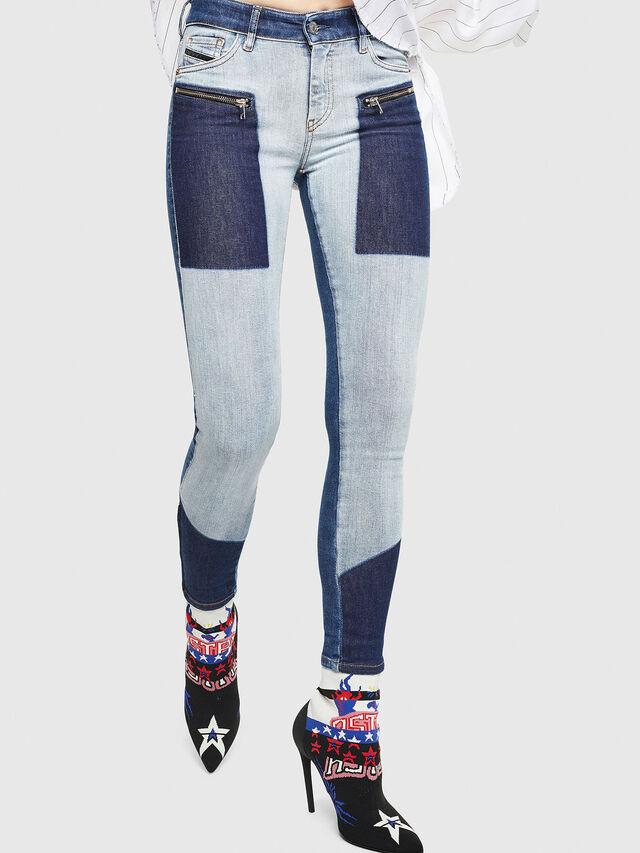 Diesel - Slandy Zip 0890L, Medium blue - Jeans - Image 1