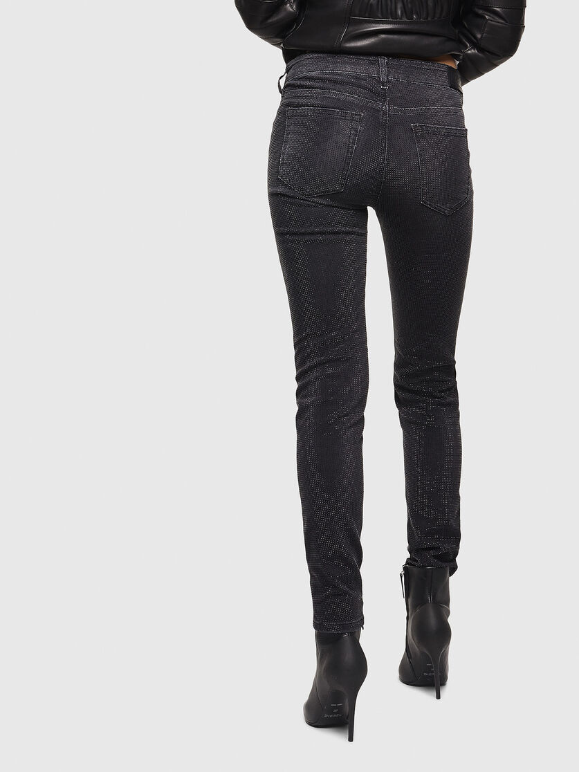 Slim Black Dark Grey Jeans