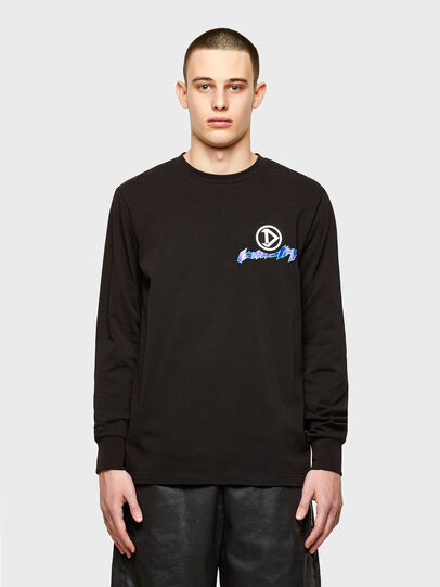Diesel - T-JUST-LS-E1, Black - T-Shirts - Image 1