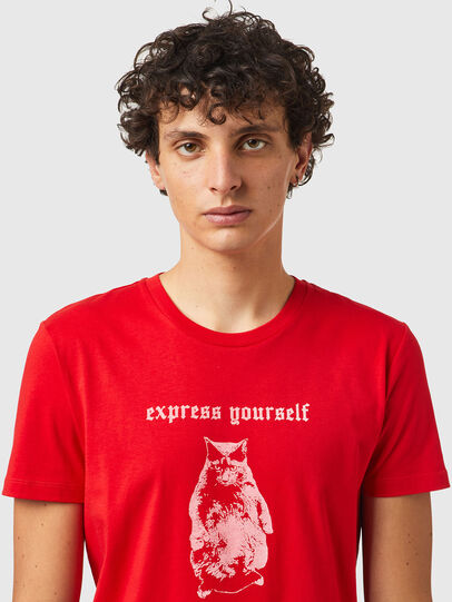 Diesel - T-INY-B2, Red - T-Shirts - Image 3