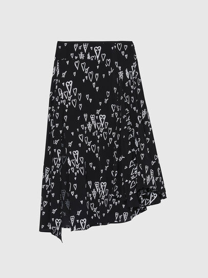 Diesel - O-SPRING-LONG, Black - Skirts - Image 1