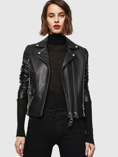 Diesel - L-LYFA, Black - Leather jackets - Image 4