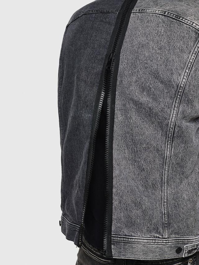 Diesel - D-POLL, Black - Denim Jackets - Image 5