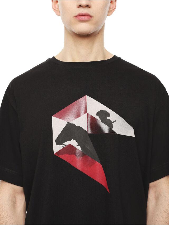 Diesel - TEORIAL-HUNTING, Black - T-Shirts - Image 3