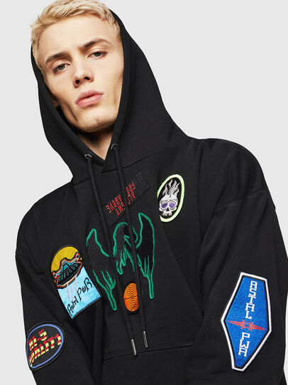 Diesel - S-ALBY-PATCHES, Black - Sweaters - Image 4