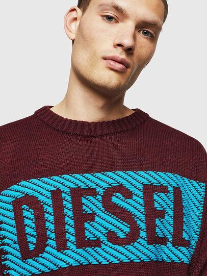 Diesel - K-LOGOX-C, Bordeaux - Knitwear - Image 4