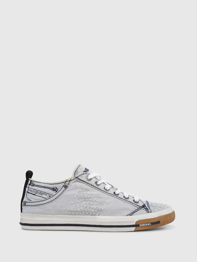 Diesel - EXPOSURE IV LOW  W, Light Blue - Sneakers - Image 1