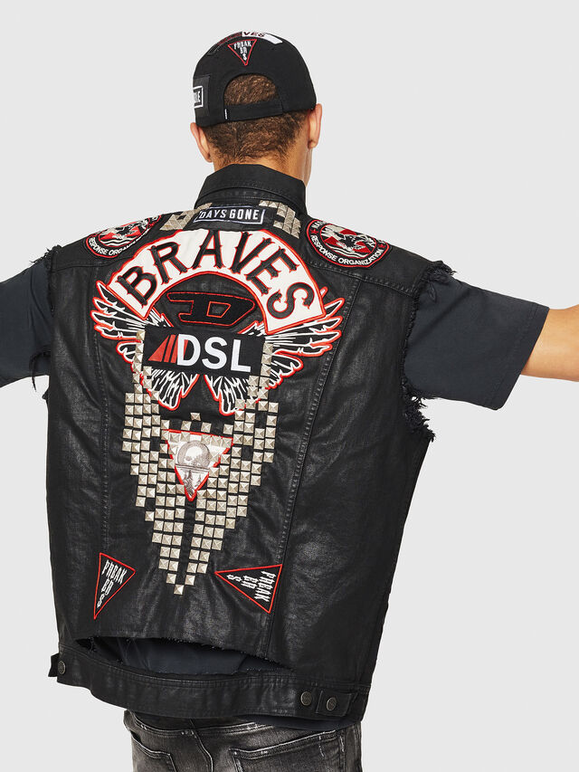 Diesel - PS-D-VINNY, Black - Denim Jackets - Image 2