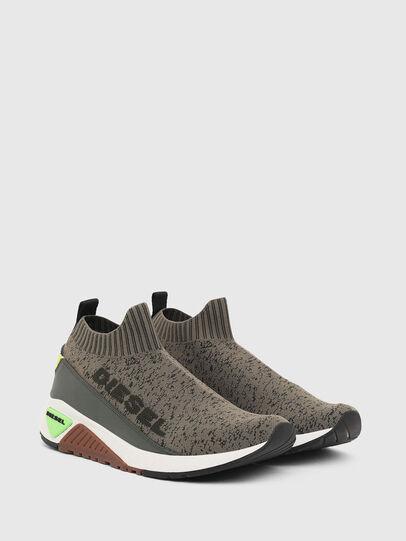 Diesel - S-KB SOCK QB, Olive Green - Sneakers - Image 2