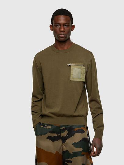 Diesel - K-NAVAJO, Military Green - Knitwear - Image 1
