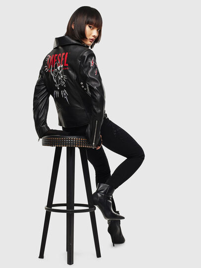 Diesel - CL-L-LYFA-BIGM, Black - Leather jackets - Image 6