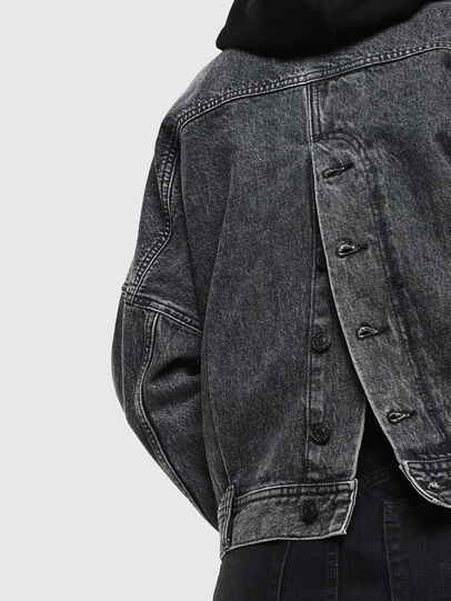 Diesel - DE-JALA, Black/Dark grey - Denim Jackets - Image 5