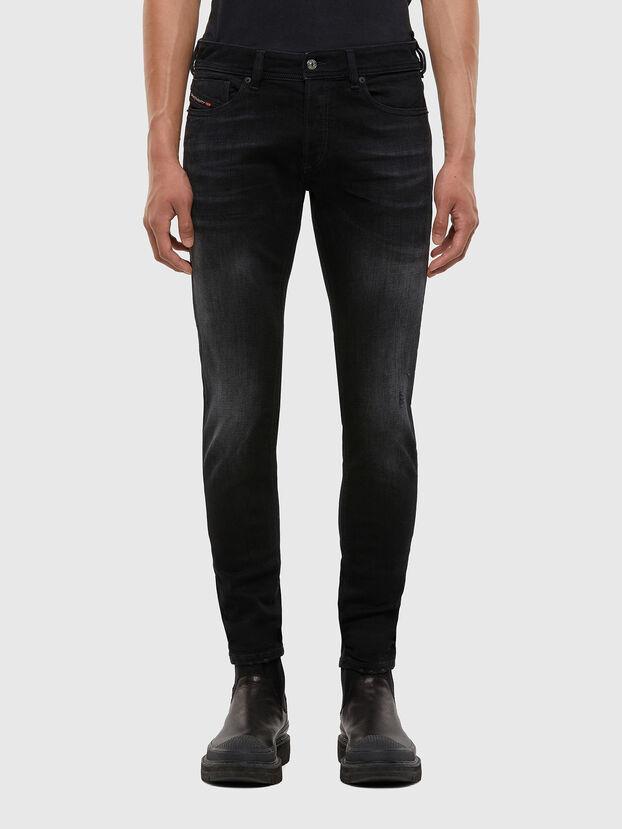 Sleenker 0092B, Black/Dark grey - Jeans