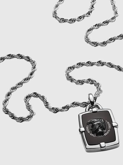 Diesel - DX1174, Silver/Black - Necklaces - Image 2