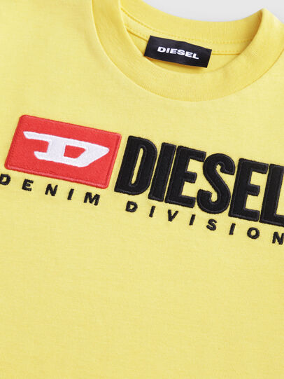 Diesel - TJUSTDIVISIONB-R, Yellow - T-shirts and Tops - Image 3