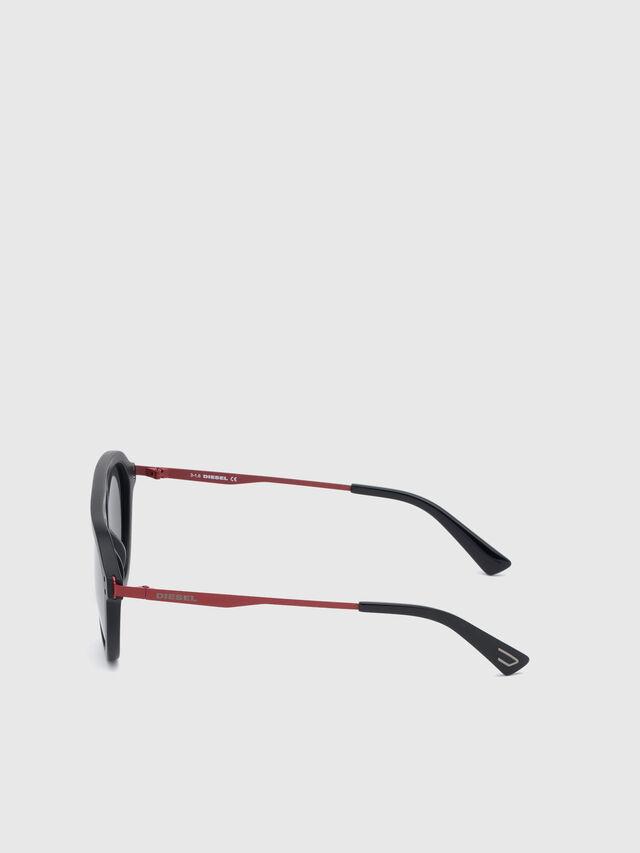 Diesel - DL0277, Black/Red - Sunglasses - Image 3