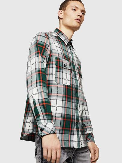 Diesel - S-MILLER-A, Dark Green - Shirts - Image 1