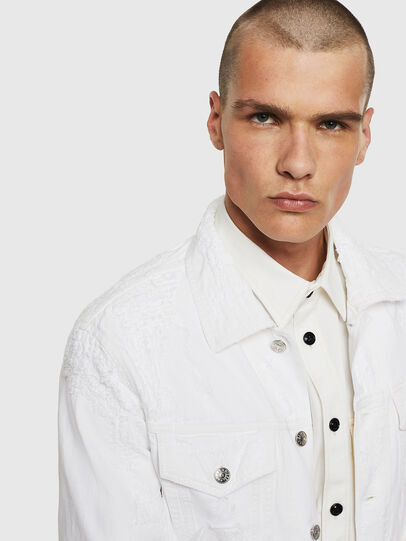 Diesel - NHILL, White - Denim Jackets - Image 3
