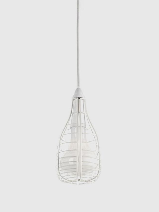 Living CAGE SOSPENSIONE MIC, White - Hang Lighting - Image 1