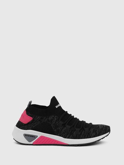 Diesel - S-KB ATHL LACE W, Black/Pink - Sneakers - Image 1